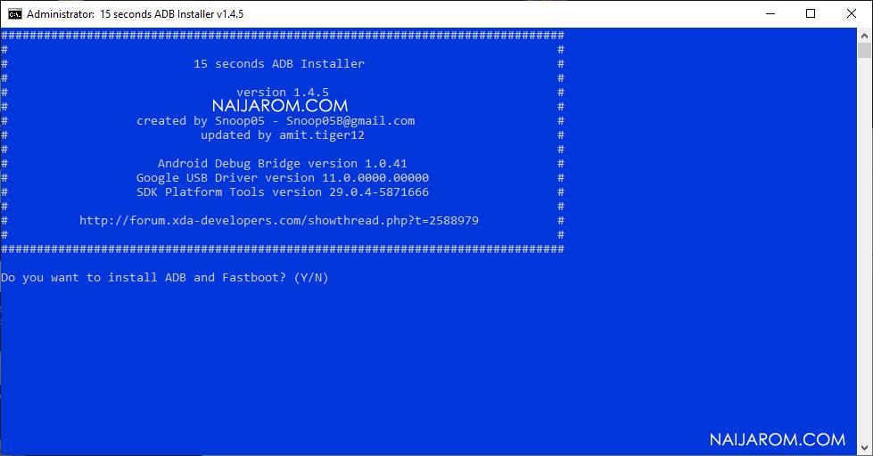 15 Second ADB Installer v1.4.5