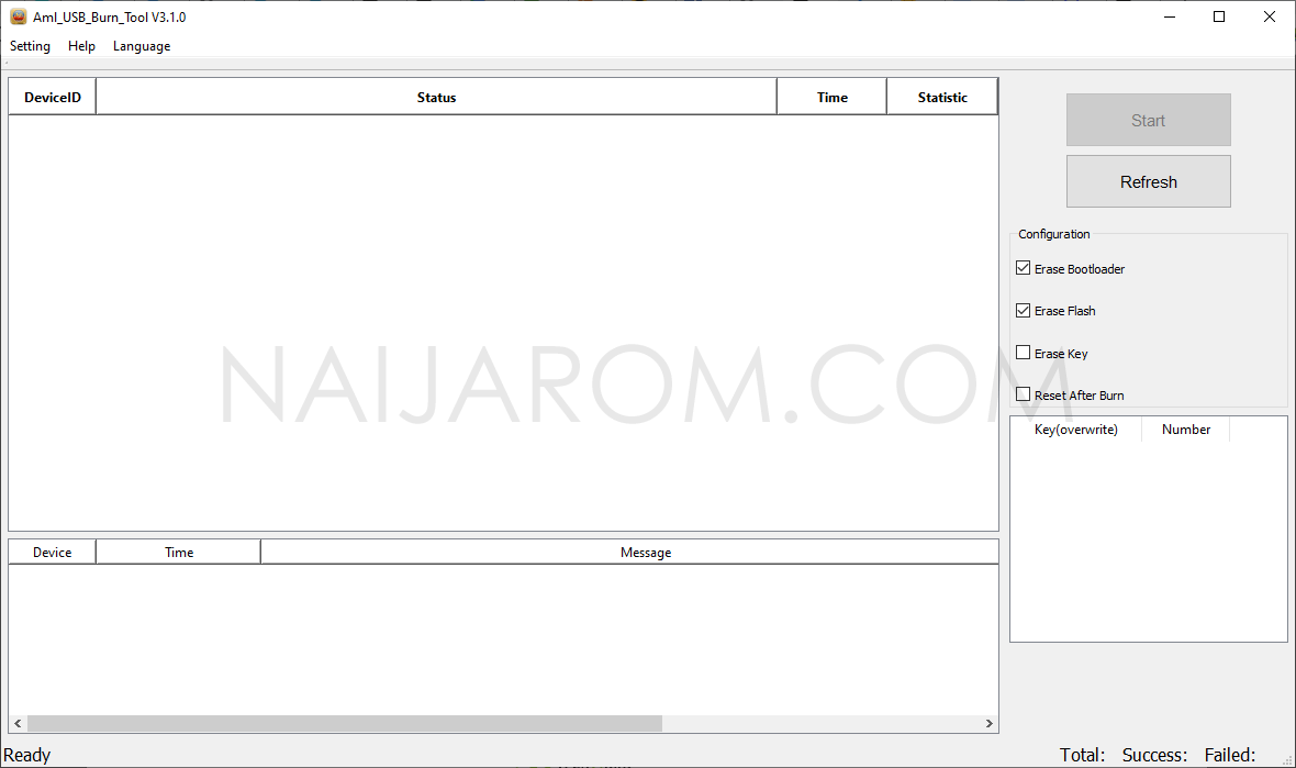 Amlogic USB Burning Tool v3.1.0