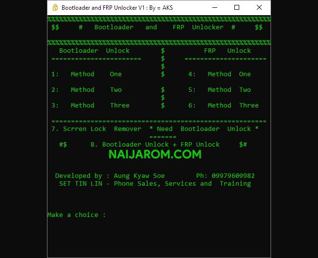 Bootloader and FRP Unlocker V1