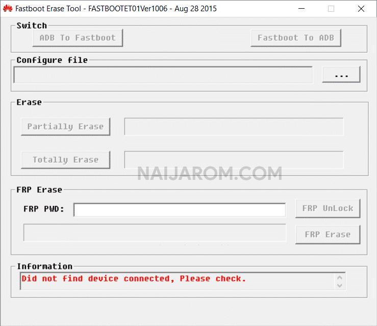 Huawei FRP Remover Tool