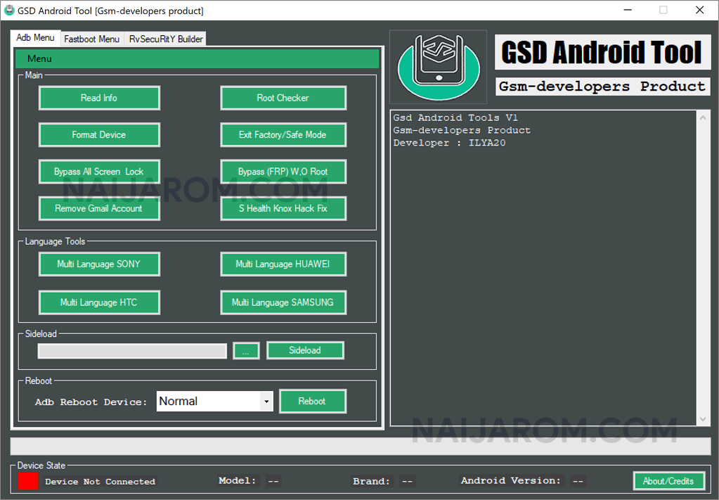 GSD Android Tool v1.0.0