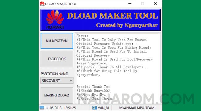Huawei Dload Maker Tool