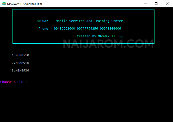 Magway IT Qualcomm Service Tool