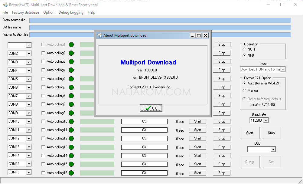 Multiport Download Tool v3.0808