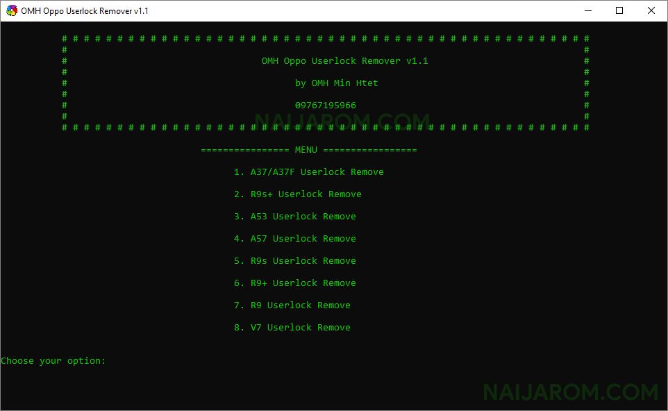 omh oppo userlock remover v1.1