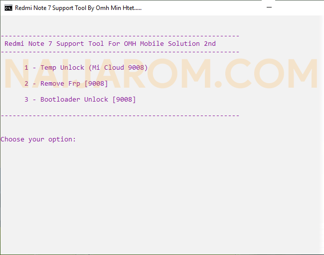 OMH Redmi Note 7 Support Tool