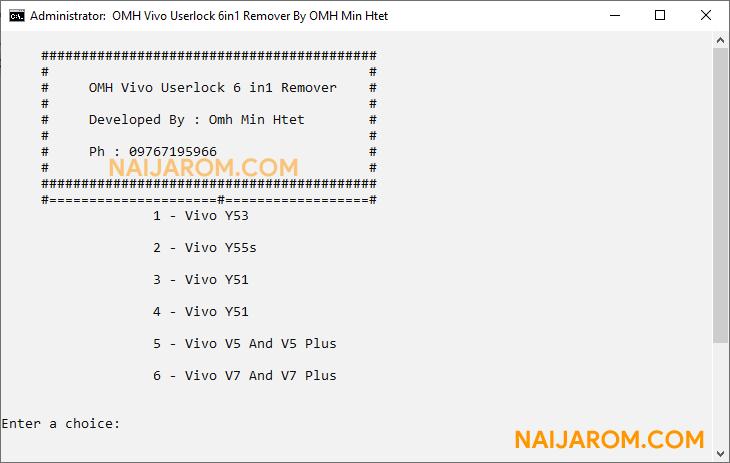 OMH Vivo Userlock 6 in 1 Remover