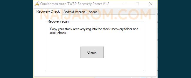 Qualcomm Auto TWRP Recovery Porter v1.2