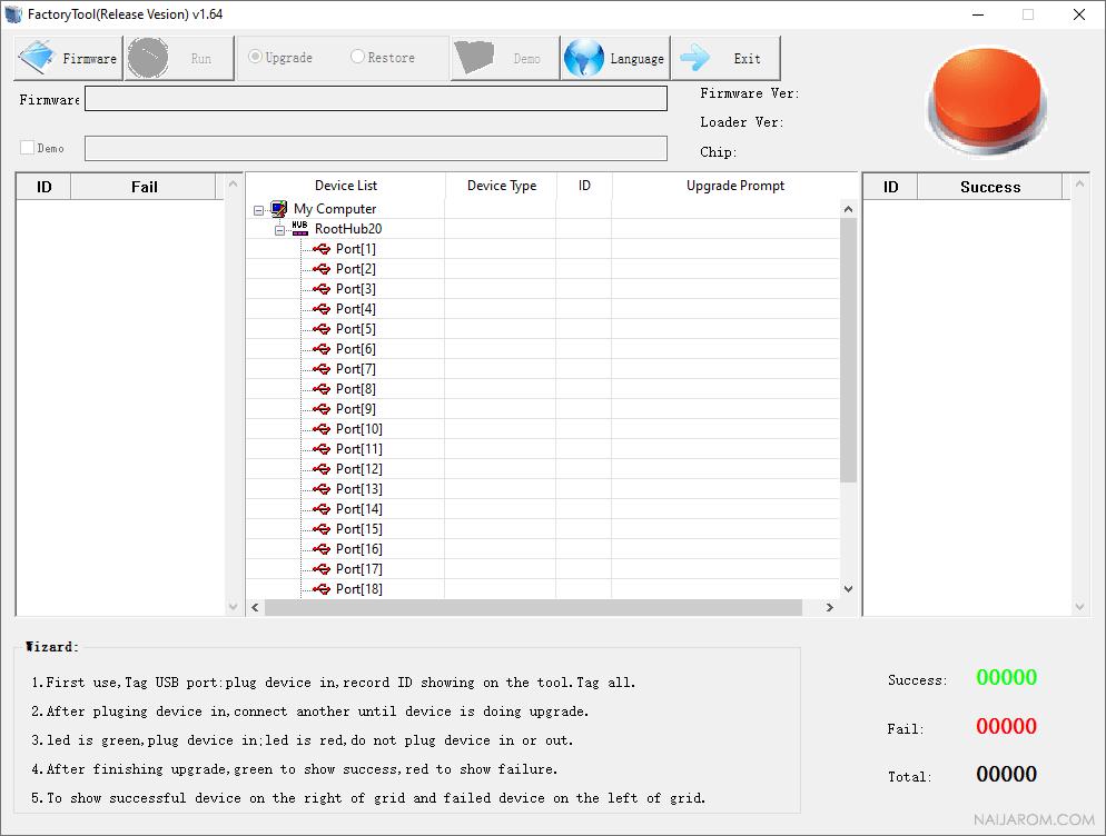 RockChip FactoryTool v1.64