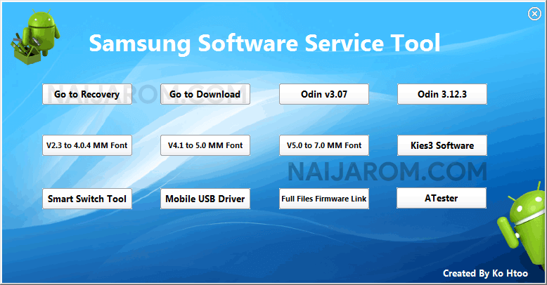 Samsung Software Service Tool