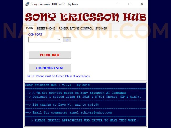 Sony Ericsson Hub v0.1