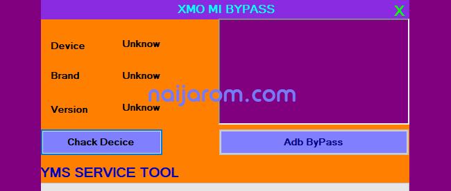 XMO Mi Bypass Tool